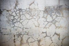 Cementowa podłoga pękająca, abstrakcjonistyczny tło Zdjęcie Royalty Free