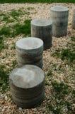 Cementowe butle w postaci schodków zdjęcia stock