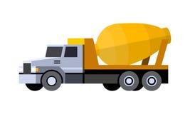 Cementowego melanżeru ciężarówka royalty ilustracja