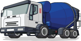 Cementowego melanżeru ciężarówka Fotografia Royalty Free