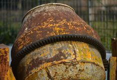 Cementowego melanżeru budowy maszyny zapasu fotografia Obrazy Royalty Free
