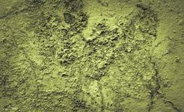 Cementowy ściana cementu zielonego koloru tło Fotografia Stock