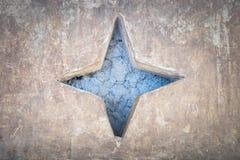 Cementowy błękitnej gwiazdy tło Obraz Royalty Free