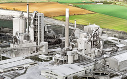 cementowy England fabryki ketton Zdjęcia Stock