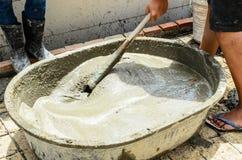 Cementowy melanżer zdjęcie stock