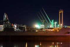 Cementowy port Zdjęcia Royalty Free