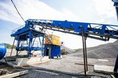 Cementproduktion i villebråd arkivbild