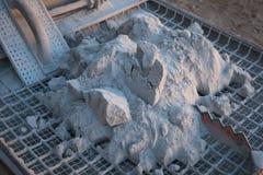 Cementstapel op de rooster Royalty-vrije Stock Afbeelding