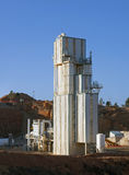 cementtillverkningsväxt Arkivfoto