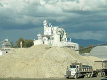 cementväxt Royaltyfri Foto