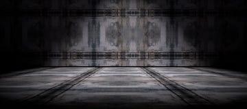 Cementvloer en muurachtergrond Stock Foto's