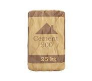 Cementzak op wit 3D teruggevend beeld als achtergrond geen schaduw Royalty-vrije Stock Afbeelding