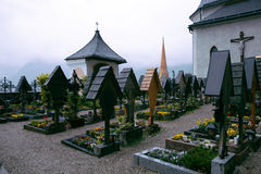 Cemertry, tHallstatt,奥地利 图库摄影