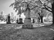 Cemetary. Sherbrooke infrared photography cemetary place outdoor Stock Photo