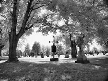 Cemetary. Cross in cemetary Sherbrooke, place Royalty Free Stock Images