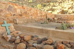 Namibia: Sam Khubis Memorial, where Baster-people fought the germans. The Cemetary of the Baster-people at Sam Khubis Memorial, where there were fighting against royalty free stock photo