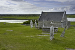 Cemetary and Church in Ireland Royalty Free Stock Photography