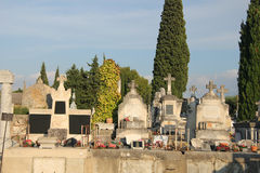 Cemetary in France Royalty Free Stock Image