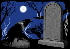 Cemetary night Royalty Free Stock Photo