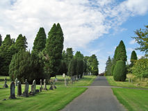 Cemetary Path 1 Royalty Free Stock Images