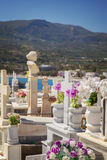 Cemetary in Sitia Crete Stock Images