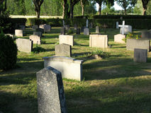 Cemetery 1. A place for people to rest, all names opposite Royalty Free Stock Photos