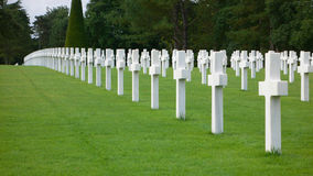 Cemetery #1. American Cemetery in Omaha beach - Normandy Royalty Free Stock Photos