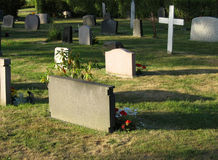 Cemetery 2. A place for people to rest, all names opposite Stock Photography