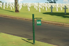 Cemetery. An american cemetery in Manila, Philippines Royalty Free Stock Photo