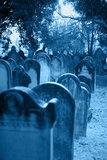 Cemetery. Historic cemetery with selective focus on headstones Stock Photos
