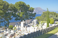 Cemetery above Mediteranean, near Villefranche sur Mer, French Riviera, France Stock Image