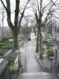 Cemetery alley Stock Photo