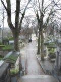 Cemetery alley Stock Photo