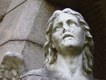 Cemetery Angel. Angel at the entrance of a tomb in an old New England cemetery Stock Images