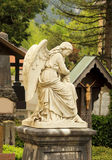 Cemetery angel statue Stock Photography