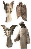 Cemetery Angels Collection. An isolated collection of stone cemetery angels ready to be used for your next project royalty free stock images