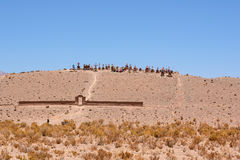 Cemetery in the Argentine desert in altitude Royalty Free Stock Photo
