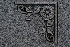 Cemetery Art 4343. Cemetery designs, borders, details, and graphics from grave stones and memorials honoring family members royalty free stock photo