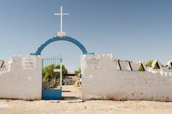 Cemetery on Atacama desert. Cemetery of San Pedro de Atacame in northern Chile Stock Images