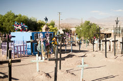 Cemetery on Atacama desert Royalty Free Stock Photos