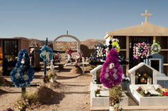 Cemetery on Atacama desert Stock Photos