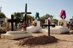 Cemetery on Atacama desert Royalty Free Stock Photography