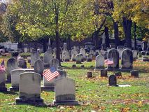 Cemetery In Autumn 15 Royalty Free Stock Photo