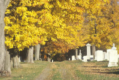 Cemetery in autumn, VT Royalty Free Stock Photography