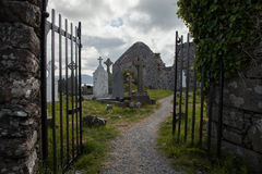 Cemetery at the Ballinskelligs Priory, Ireland Stock Images