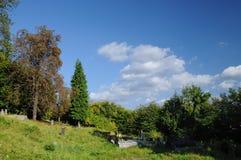 Cemetery in Banska Stiavnica Royalty Free Stock Images