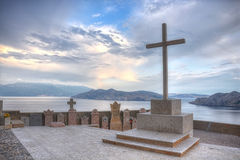 Cemetery in Baska,Krk Island,Croatia Stock Photo