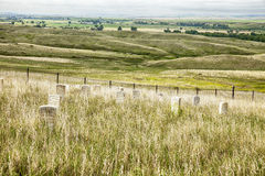 Cemetery And Battlefield At Little Bighorn Stock Image