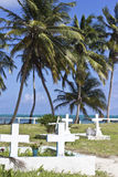 Cemetery by the beach. At Caye Caulker, Belize Royalty Free Stock Images