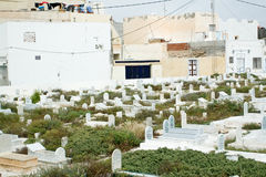 The cemetery on the beach. Mahdia. Tunisia. Royalty Free Stock Image